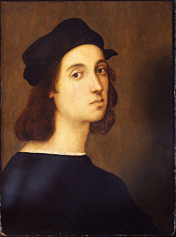 ) Raffaello Autoritratto  Self portrait 1506-1508 olio su tavola di pioppo / oil on poplar panel Firenze, Gallerie degli Uffizi, Galleria Palatina