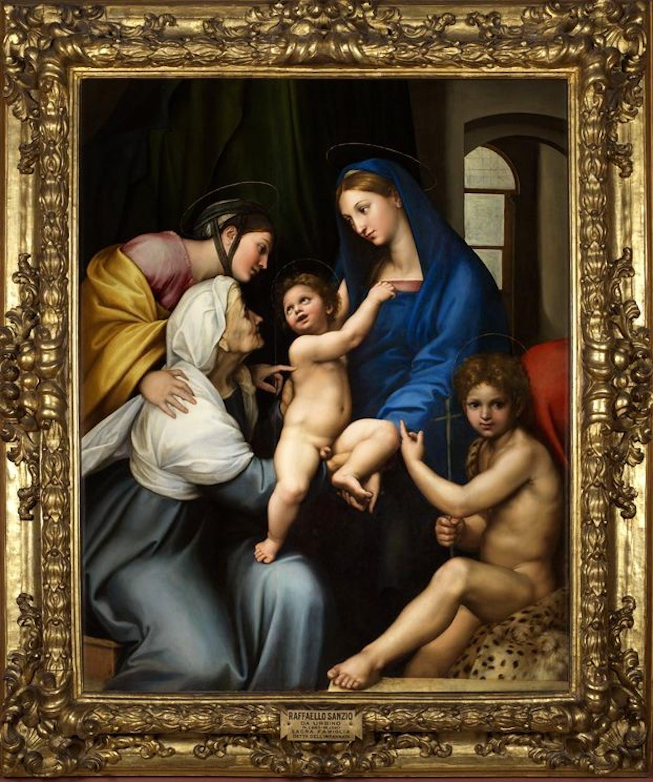 Raffaello Madonna dell'Impannata 1511 olio su tavola / oil on panel Firenze, Gallerie degli Uffizi, Galleria Palatina