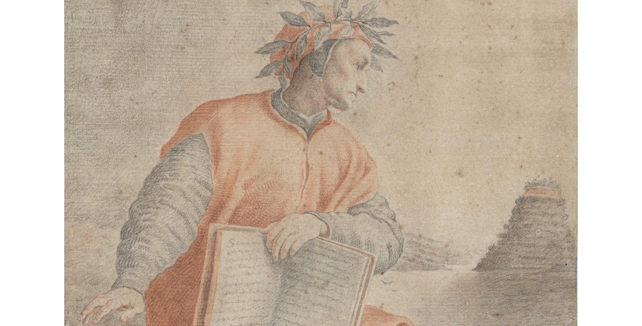 Federico Zuccari, Ritratto di Dante, Gabinetto dei Disegni e delle Stampe degli Uffizi
