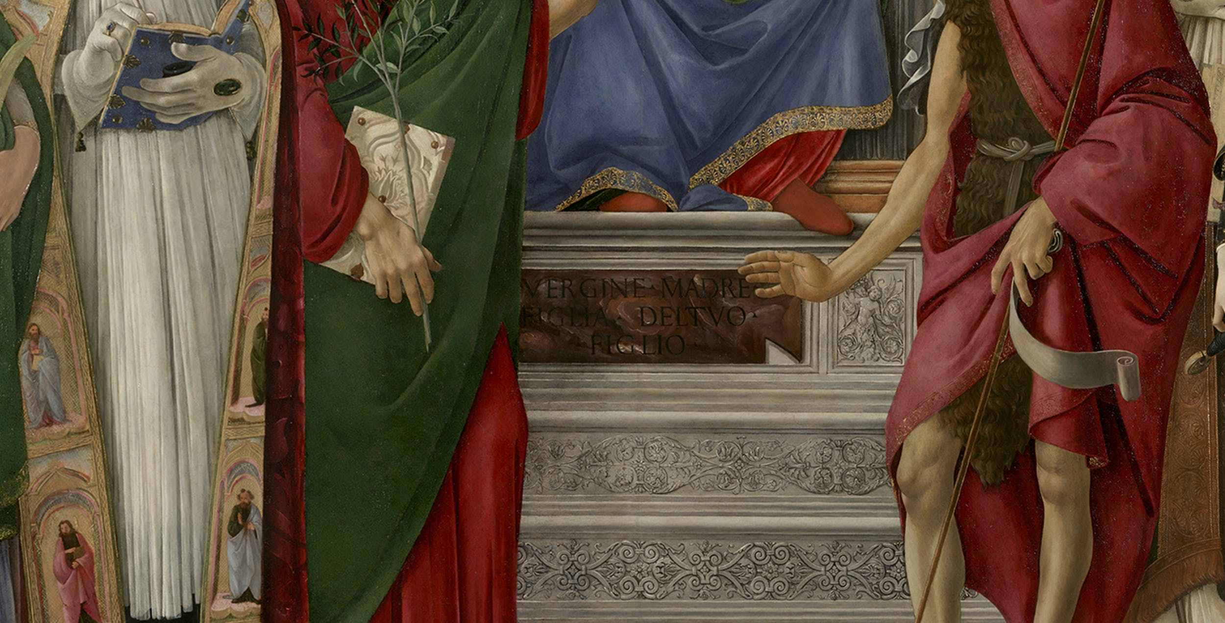 Sandro Botticelli, Pala di San Barnaba, Uffizi (part.)