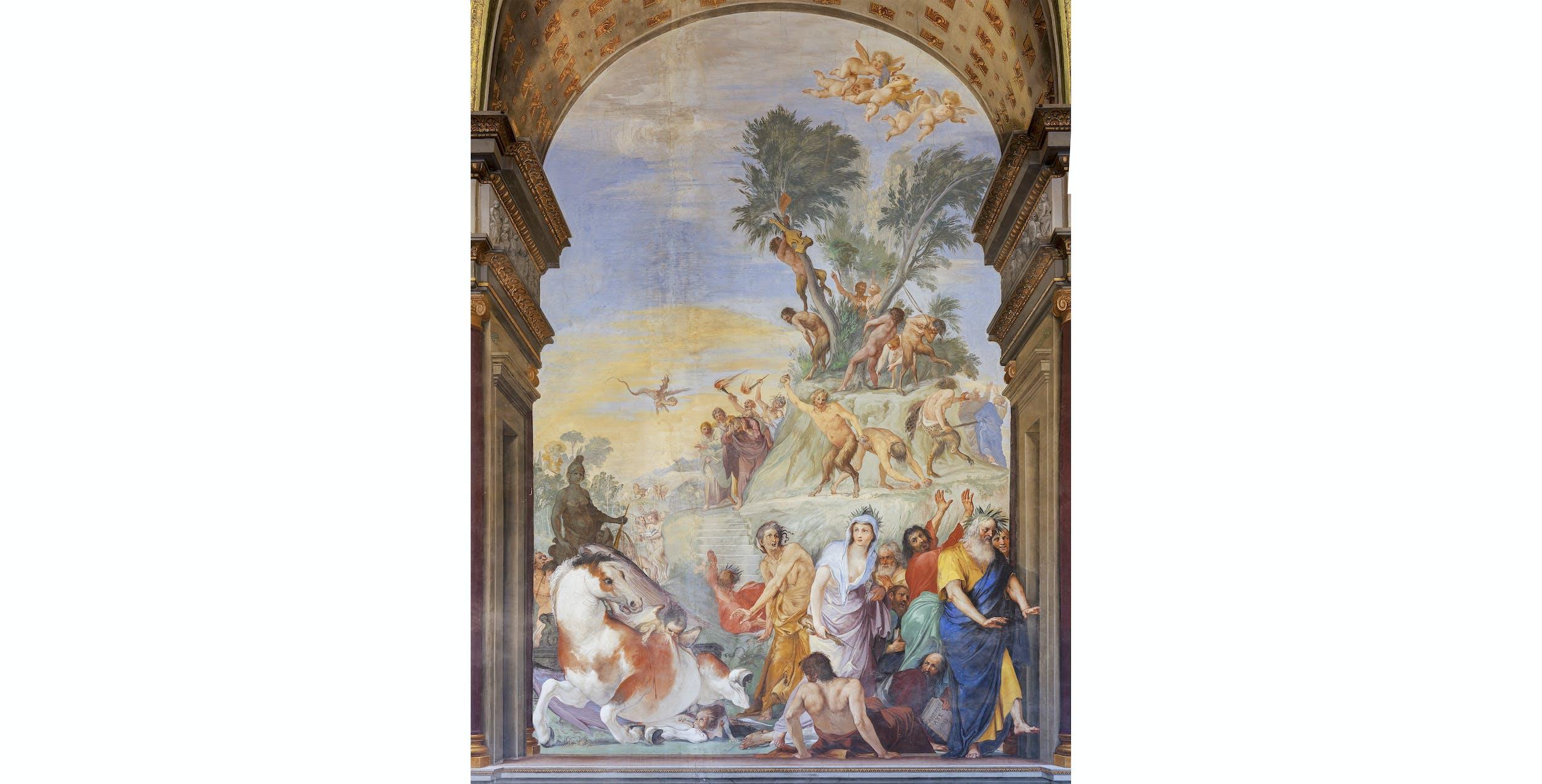 Giovanni da San Giovanni, Le Muse con i poeti e i filosofi scacciate dal Parnaso, Palazzo Pitti, Tesoro dei Granduchi, Salone di Giovanni da San Giovanni