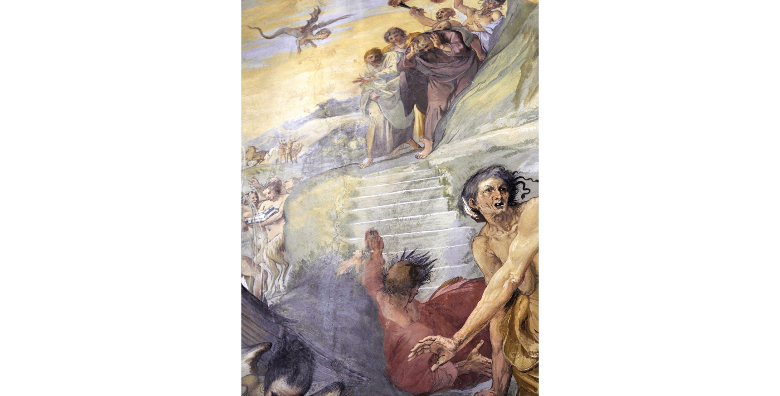 Giovanni da San Giovanni, Le Muse con i poeti e i filosofi scacciate dal Parnaso, Palazzo Pitti, Tesoro dei Granduchi, Salone di Giovanni da San Giovanni (part.)