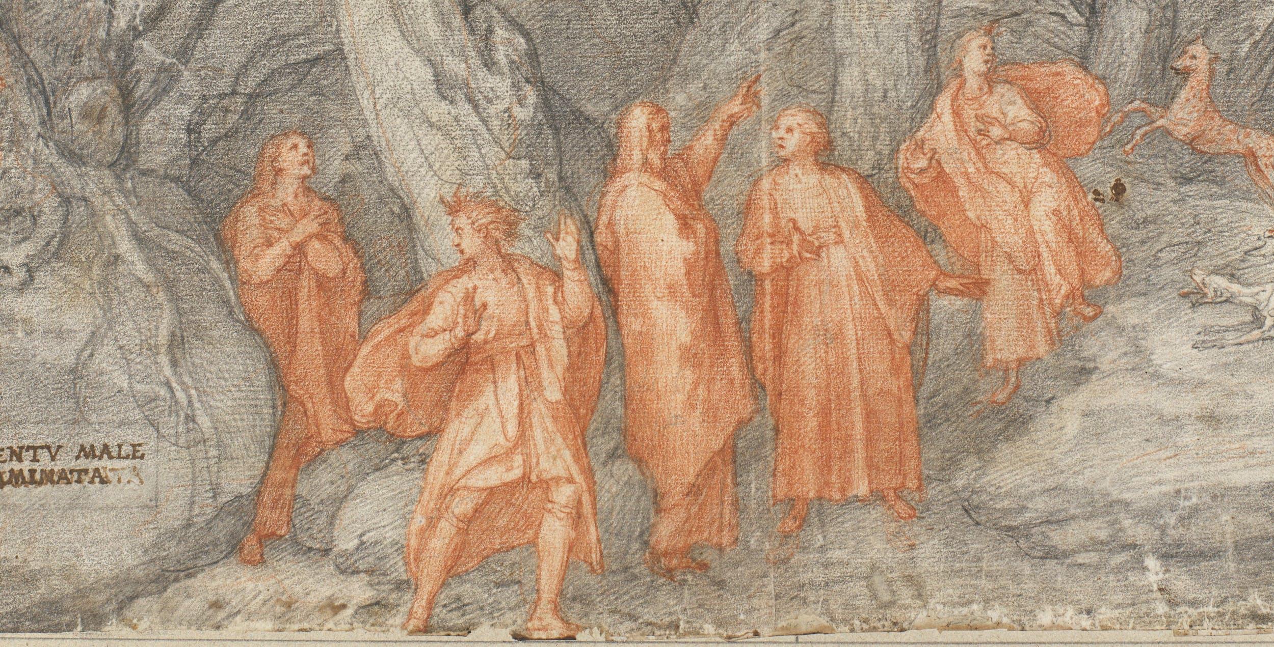 Federico Zuccari, La selva oscura, Gabinetto dei Disegni e delle Stampe degli Uffizi (part.)