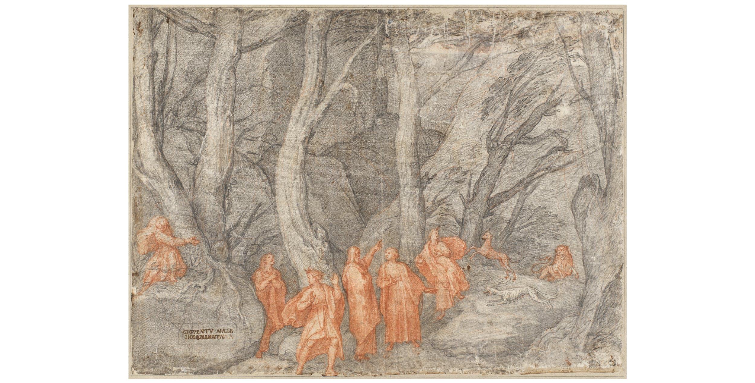 Federico Zuccari, La selva oscura, Gabinetto dei Disegni e delle Stampe degli Uffizi