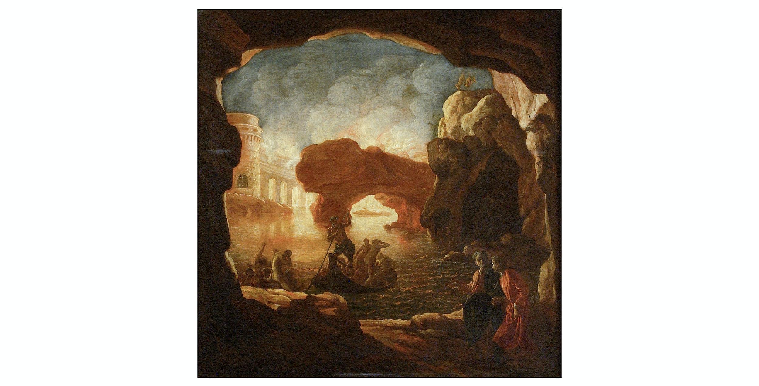 Livio Mehus, Crescenzio Onofri, Dante e Virgilio all'Inferno, Palazzo Pitti, Galleria Palatina