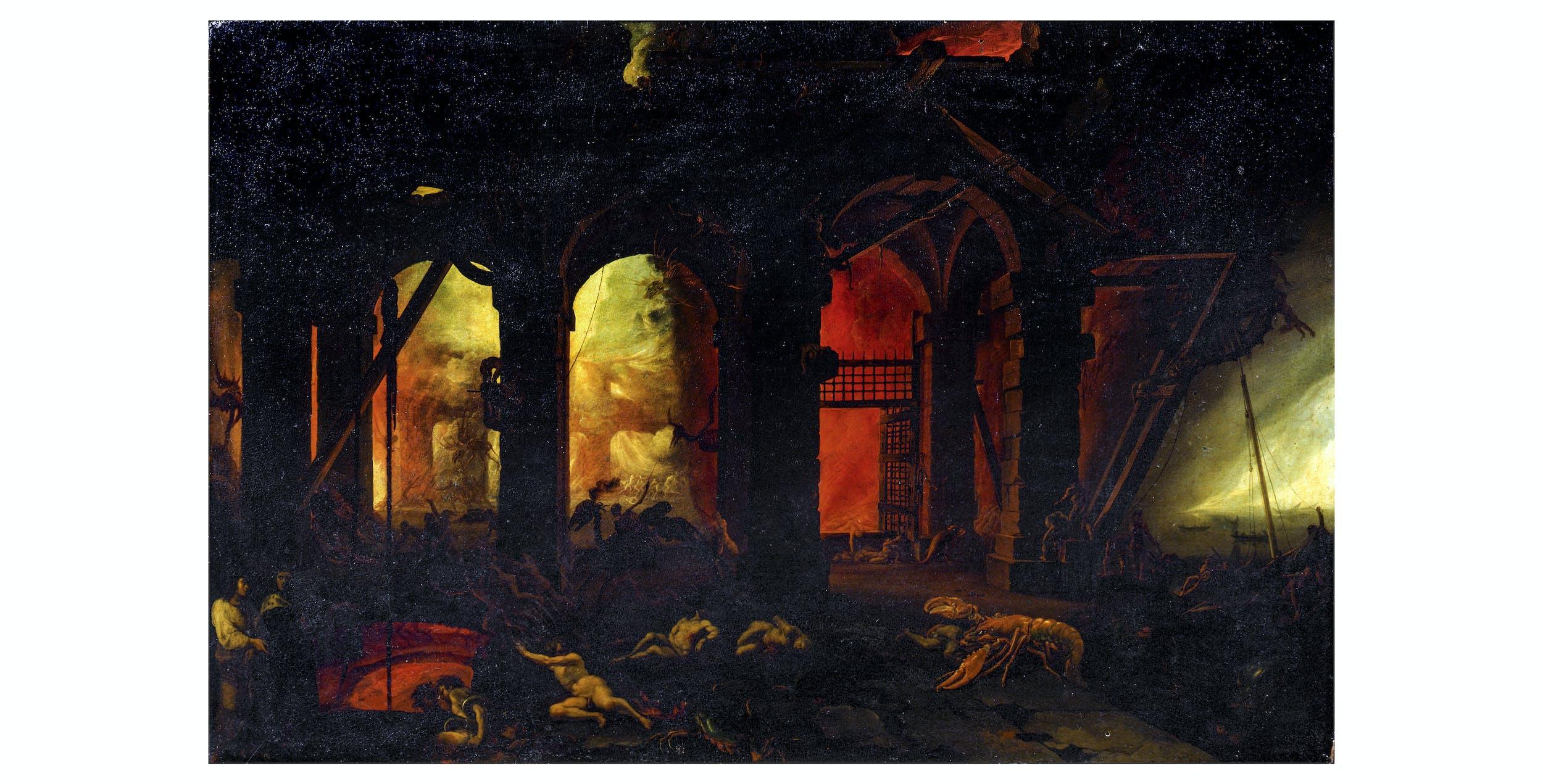 Filippo Napoletano, Dante e Virgilio all'Inferno, Uffizi