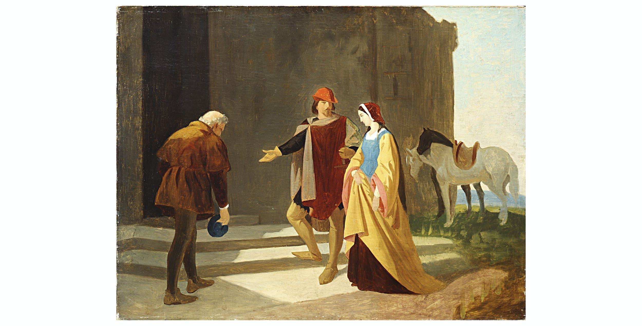 Vincenzo Cabianca, Pia dei Tolomei condotta al castello di Maremma, Palazzo Pitti, Galleria d'Arte Moderna