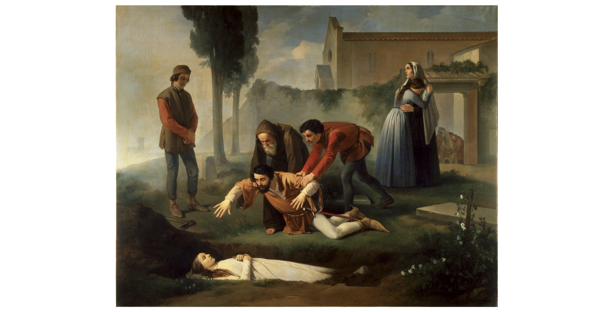 Enrico Pollastrini, Nello alla tomba della Pia, Palazzo Pitti, Galleria d'Arte Moderna