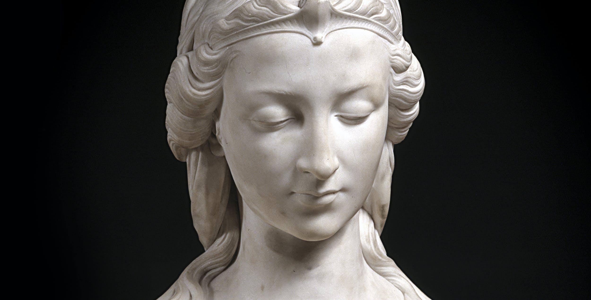 Giovanni Bastianini, Busto di Piccarda Donati, Palazzo Pitti, Galleria d'Arte Moderna (part.)