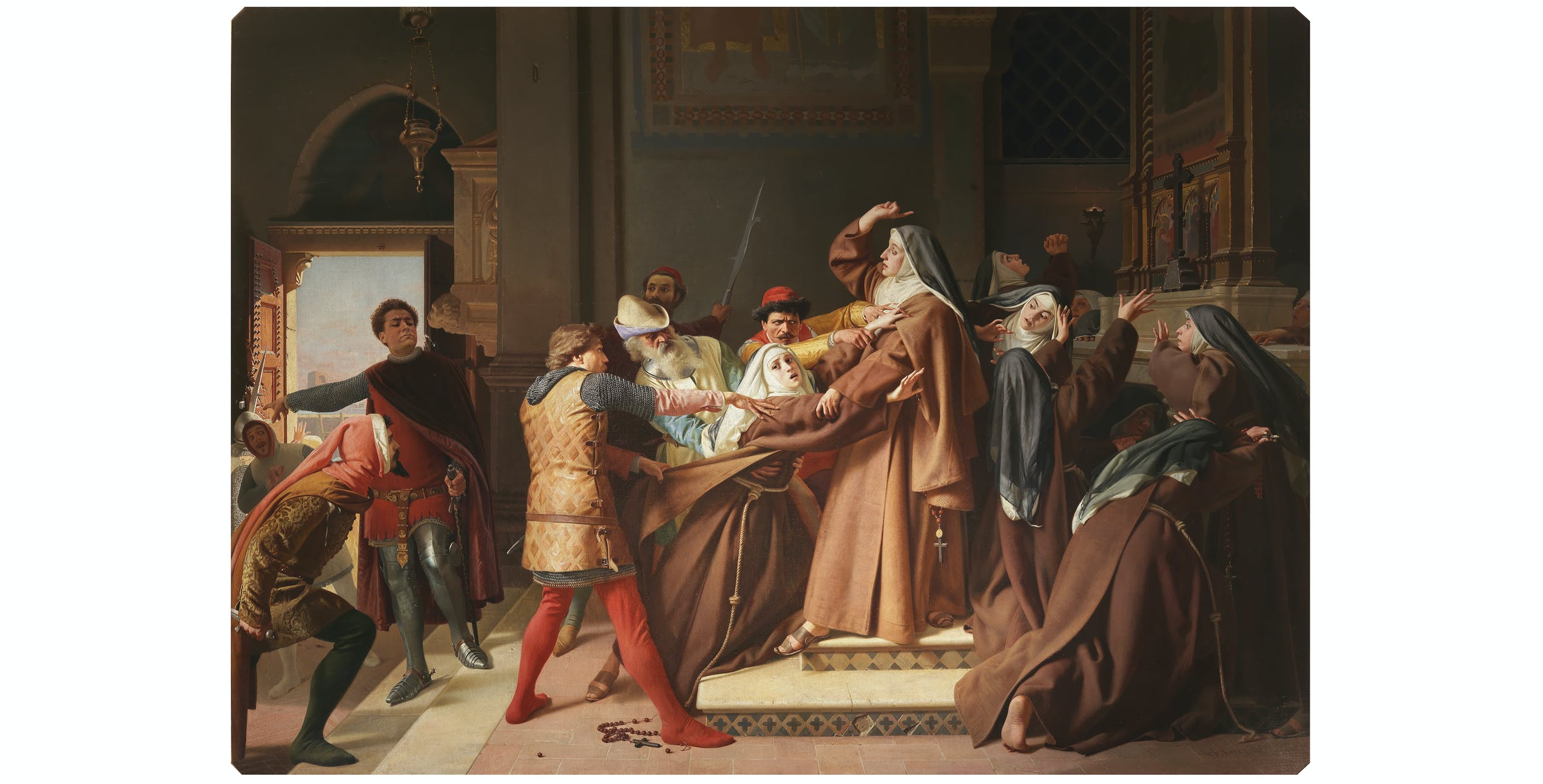 Raffaello Sorbi, Piccarda Donati fatta rapire dal convento di Santa Chiara, Palazzo Pitti, Appartamenti Imperiali e Reali