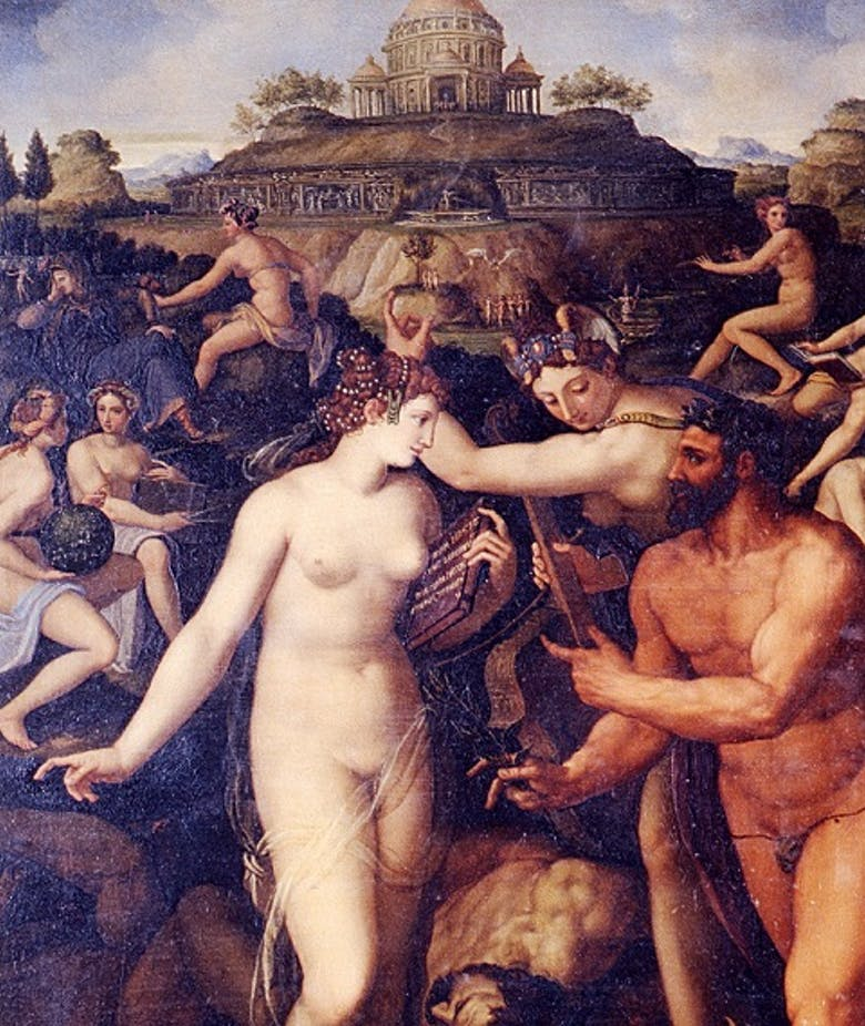 Ercole coronato dalle Muse