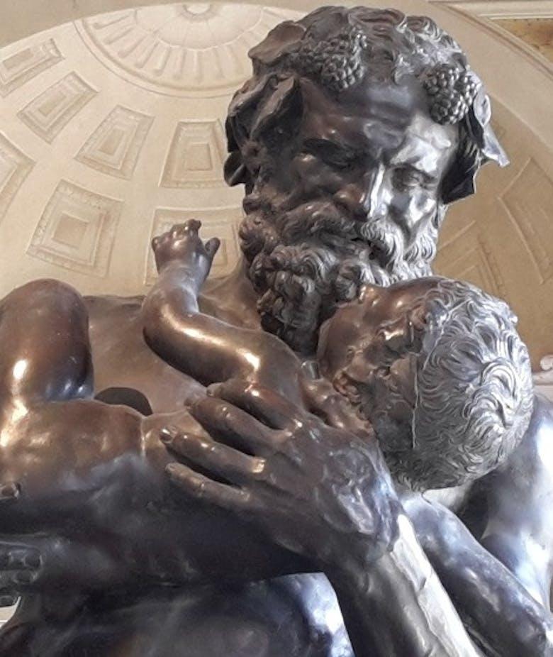 Statua con Sileno e Bacco fanciullo