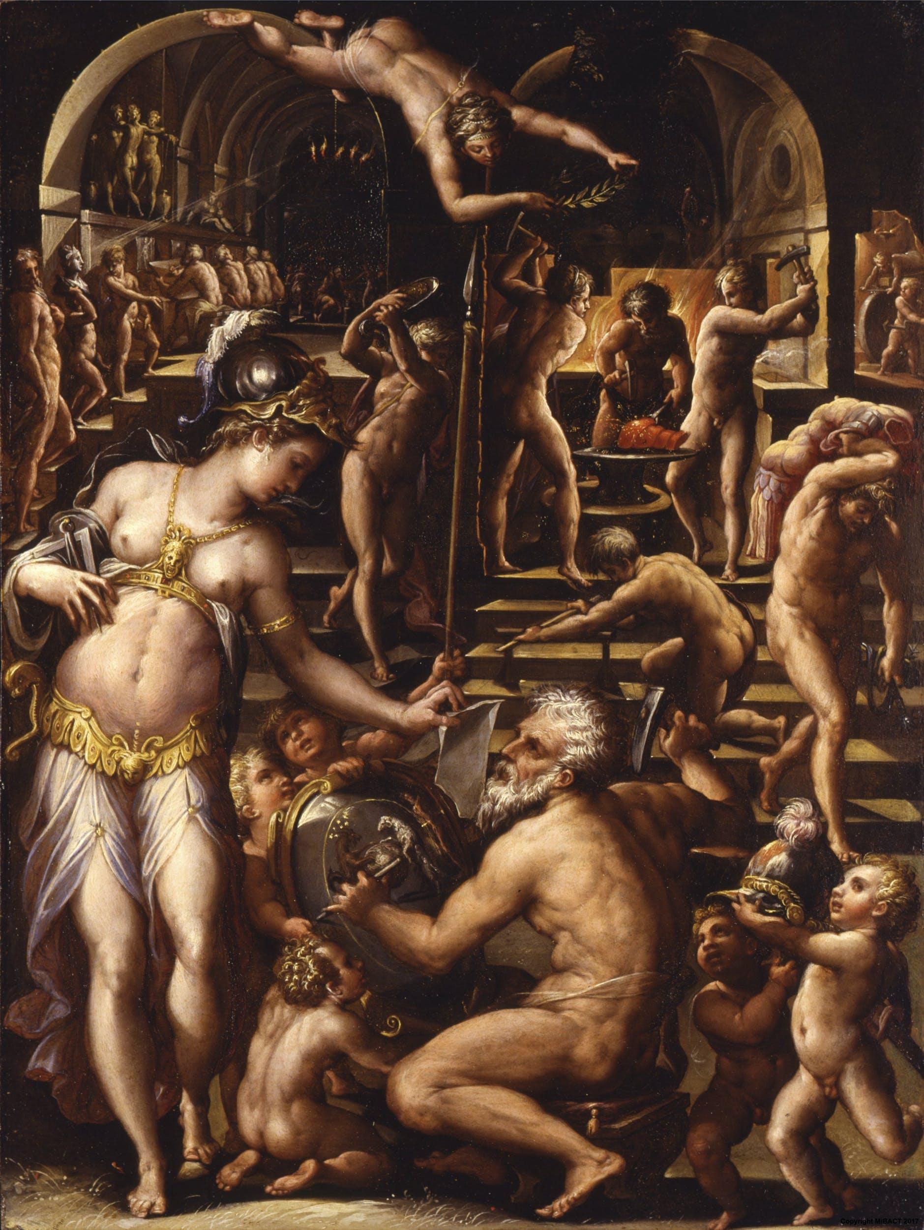 La Fucina di Vulcano, Giorgio Vasari