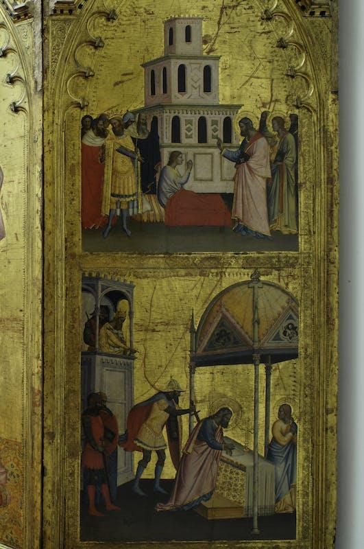 San Matteo resuscita il figlio del re Egippo; Martirio di san Matteo | St Matthew raises the son of King Egippus; Martyrdom of St Matthew
