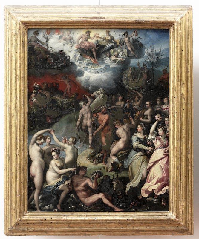 Jacopo Zucchi, Gli dei dell'Olimpo con Ercole e le Muse