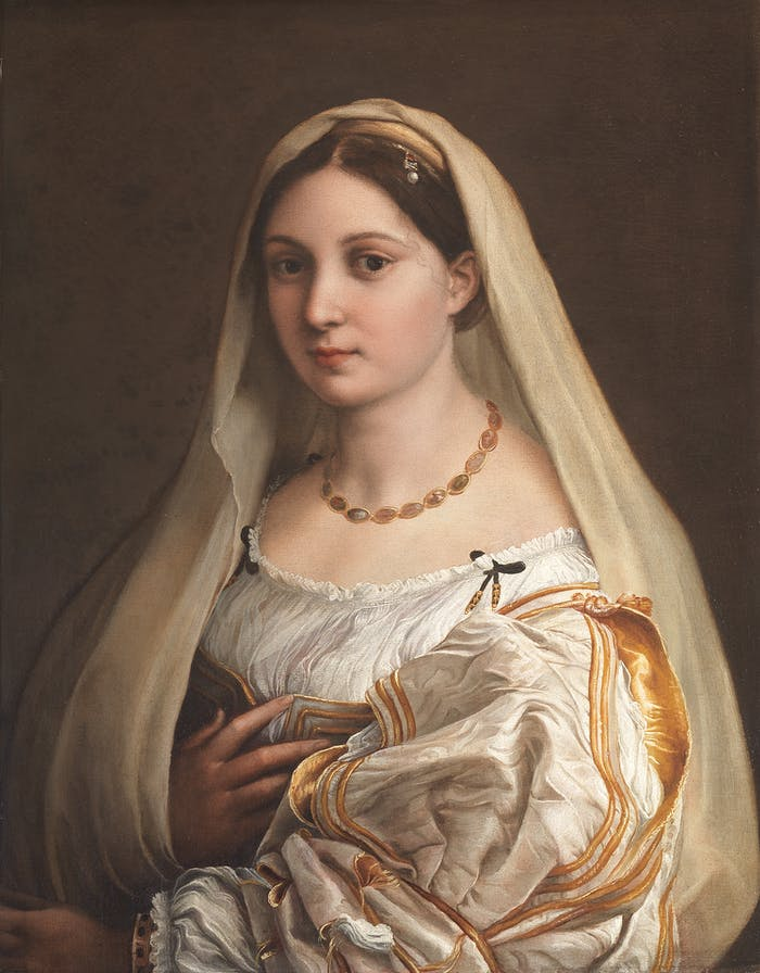 Raphael and the jewels in the Uffizi Gallery: Elisabetta Gonzaga, Maddalena Doni and the Woman with the Veil
