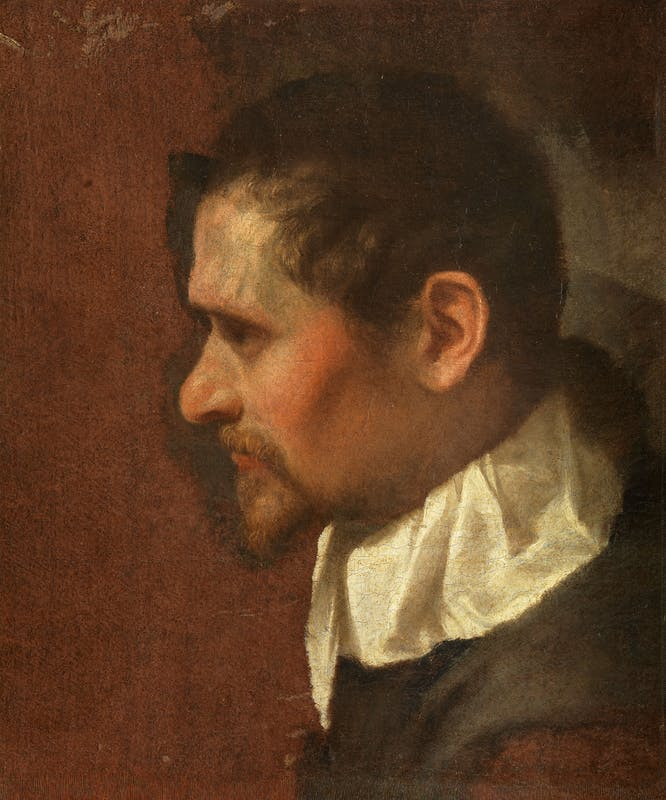 Annibale Carracci, Self-Portrait in Profile, ca. 1590/91, oil on canvas, 46.5 x 39.6. Florence, Uffizi Gallery (inv. 1890, no. 1797).