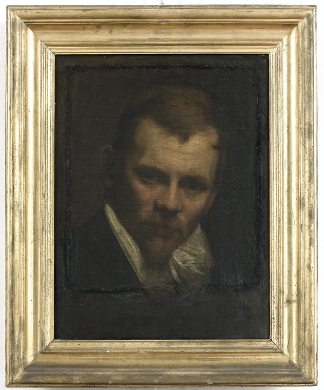 "Annibale Carracci, So-called ""Romantic"" Self-Portrait, ca. 1590/91, oil on canvas, 71 x 56 cm. Florence, Uffizi Gallery (inv. 1890, no. 1803)."