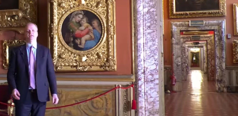 Raffaello Sanzio nella sala di Saturno di Palazzo Pitti