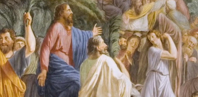 L'ingresso a Gerusalemme dipinto da Luigi Ademollo nella Cappella Palatina di Palazzo Pitti