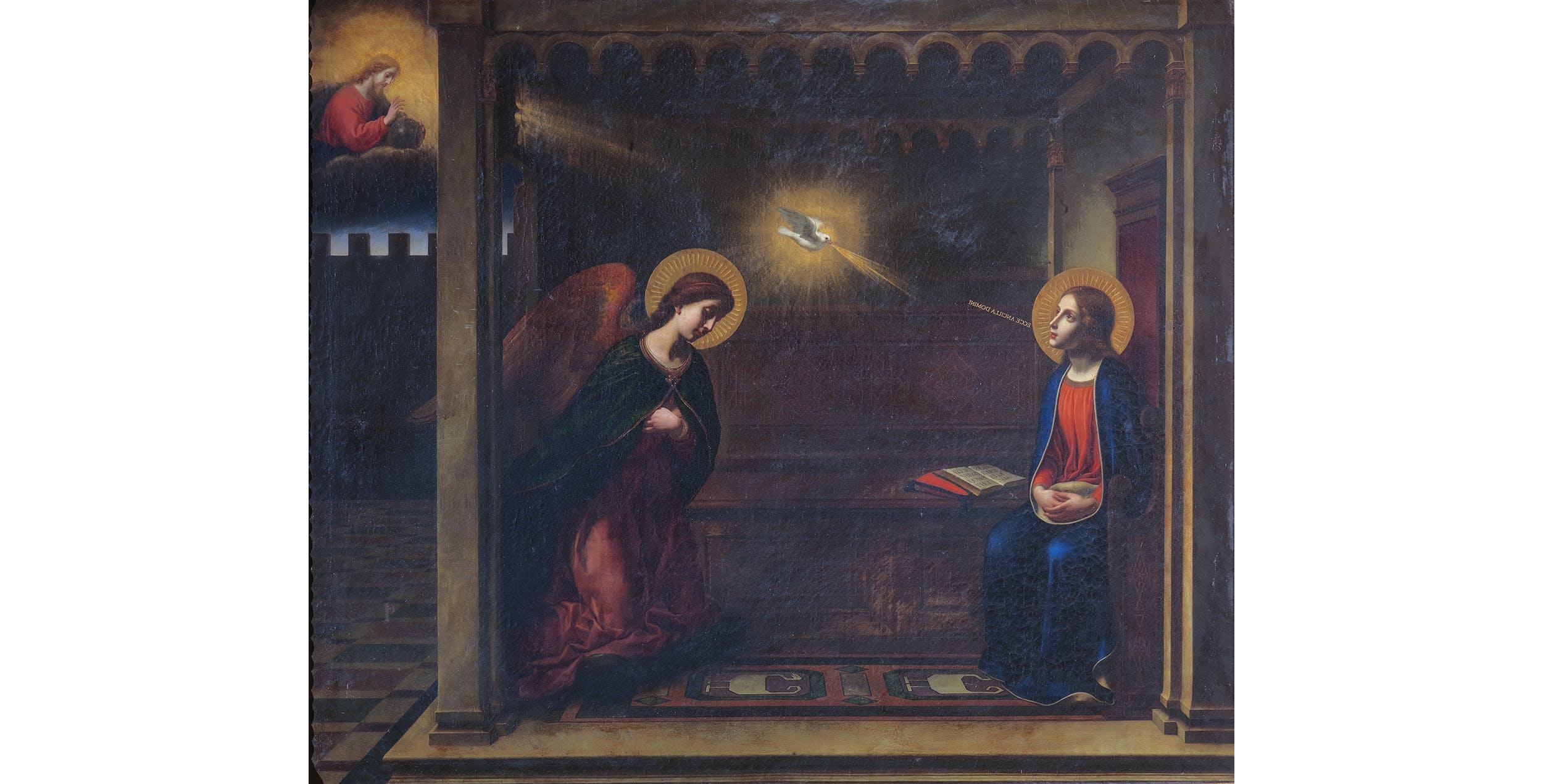 Carlo Dolci, Annunciazione (copia del dipinto trecentesco conservato nella chiesa della Santissima Annunziata), Palazzo Pitti, Appartamenti Reali e Imperiali