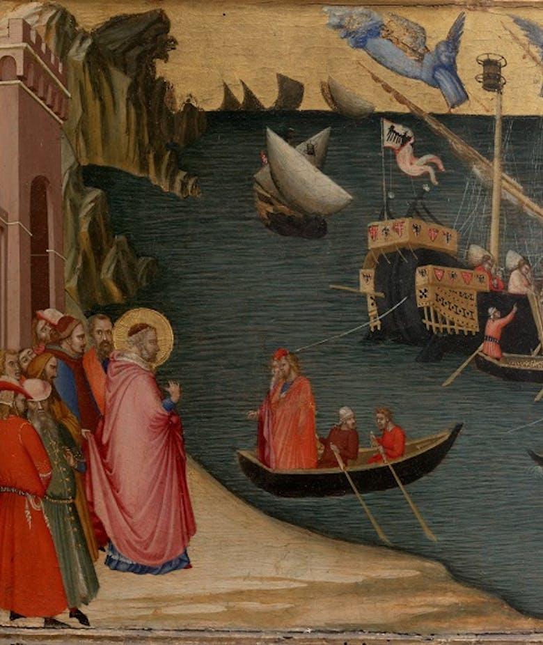Il miracolo delle navi granarie; san Nicola resuscita un fanciullo