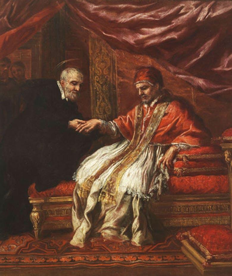 San Filippo Neri guarisce dalla gotta Clemente VIII