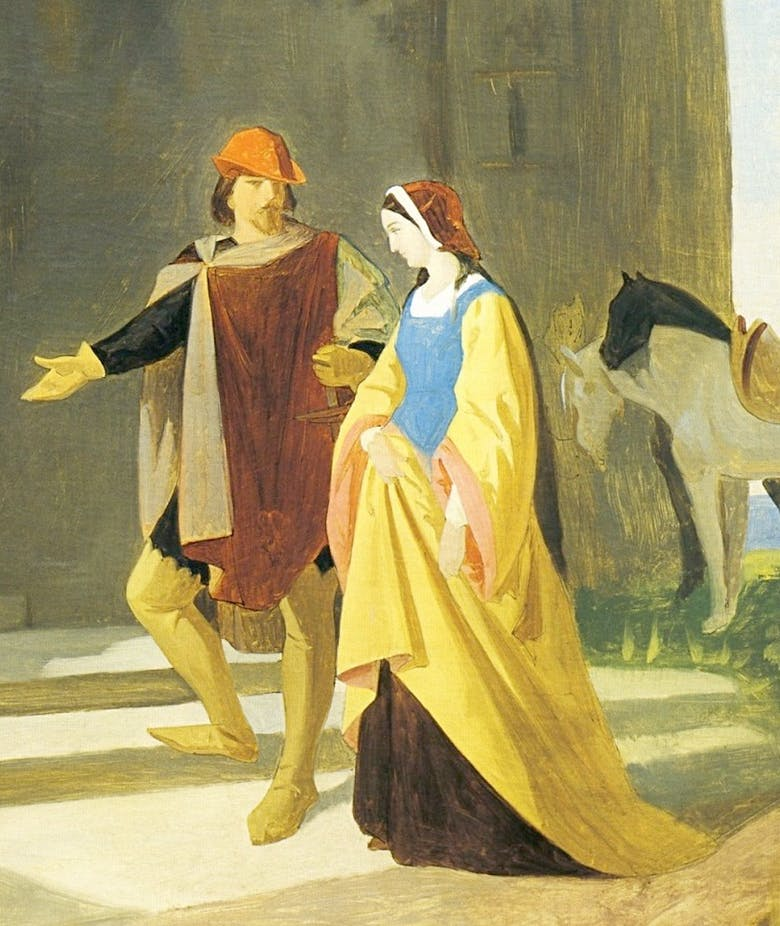Pia dei Tolomei taken to the castle of Maremma