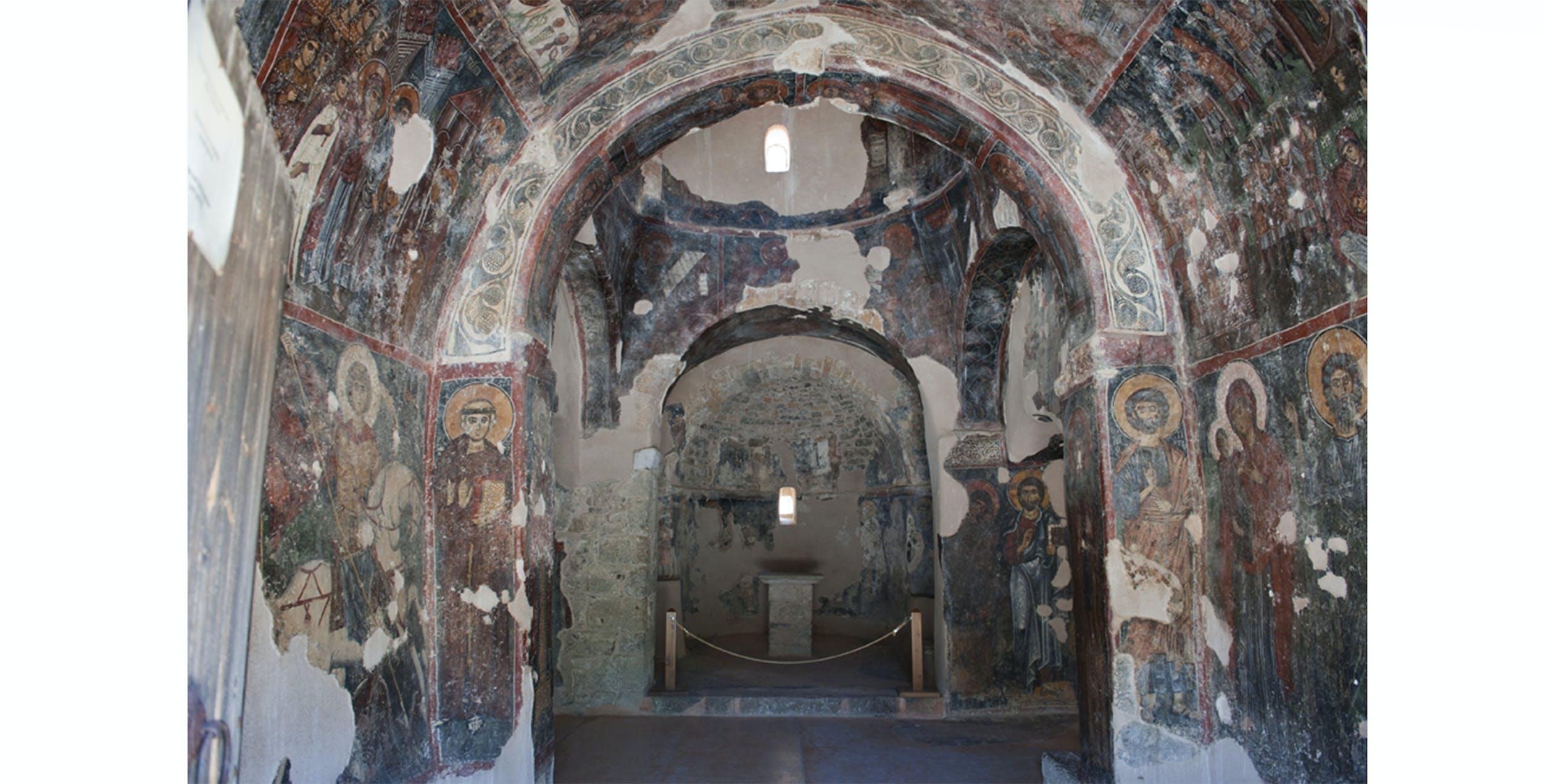 Teoria dei santi, chiesa greco ortodossa di Panagia Kera, a Kritsà (Creta), sec. XIV