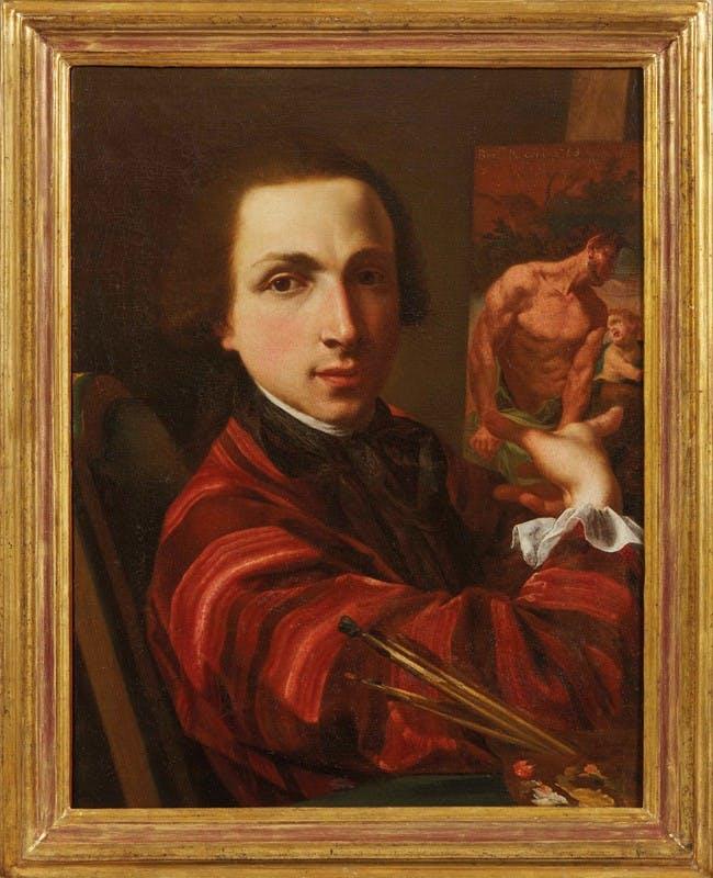 Bernardino Nocchi  (Lucca, 1741 – Roma,1812) Autoritratto olio su tela, 1763, cm 58x44,5