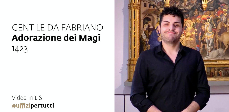 Uffizi per tutti - Video in LIS | Gentile da Fabriano, Adorazione dei Magi, 1423
