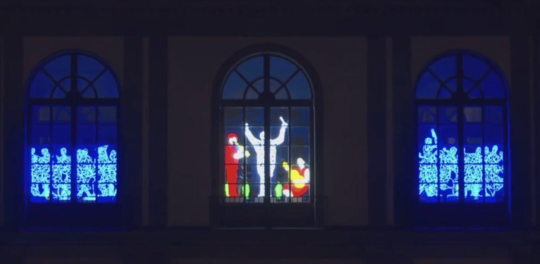 Le luci di Natale degli Uffizi