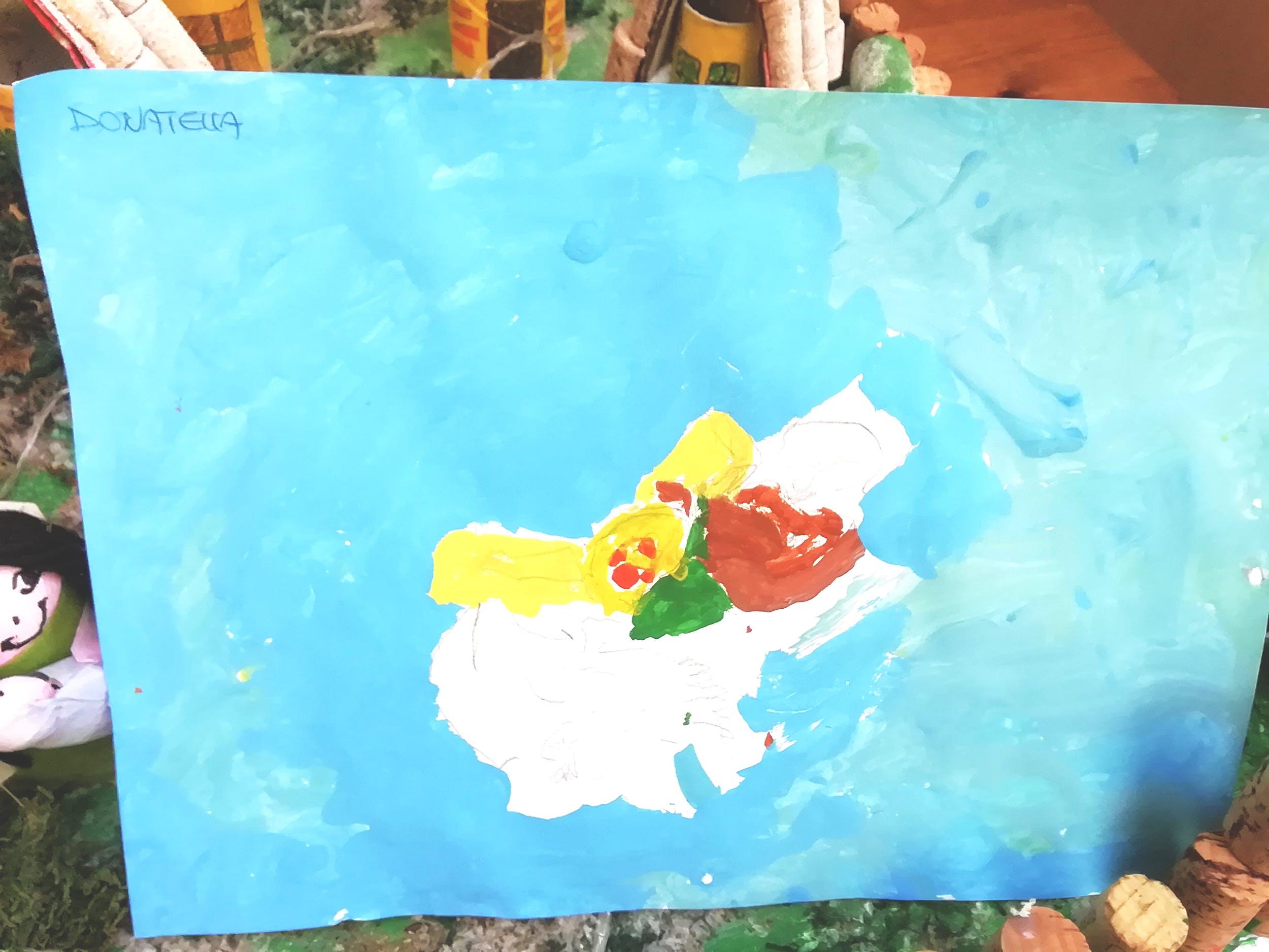 """Donatella B., disegno ispirato alla Natura morta di Oscar Ghiglia (GAM)– Centro """"La Tenda"""""""