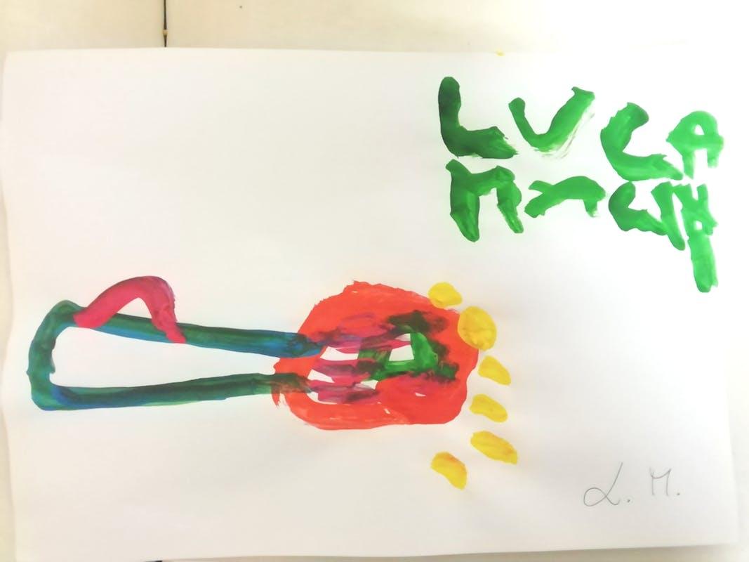 """Luca M., disegno ispirato alla Natura morta di Oscar Ghiglia– Centro """"La Tenda"""""""