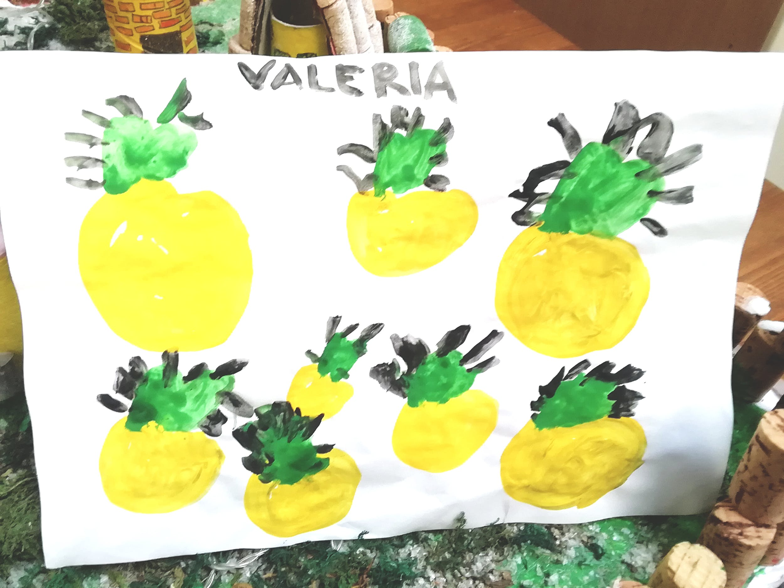 """Valeria V., disegno ispirato alla Natura morta con frutta di Gioacchino Toma (GAM)– Centro """"La Tenda"""""""