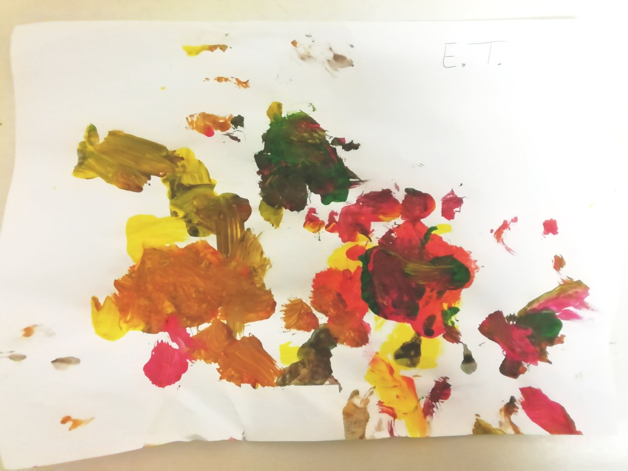 """Edoardo T., disegno ispirato alla Natura morta con frutta di Gioacchino Toma (GAM)– Centro """"La Tenda"""""""