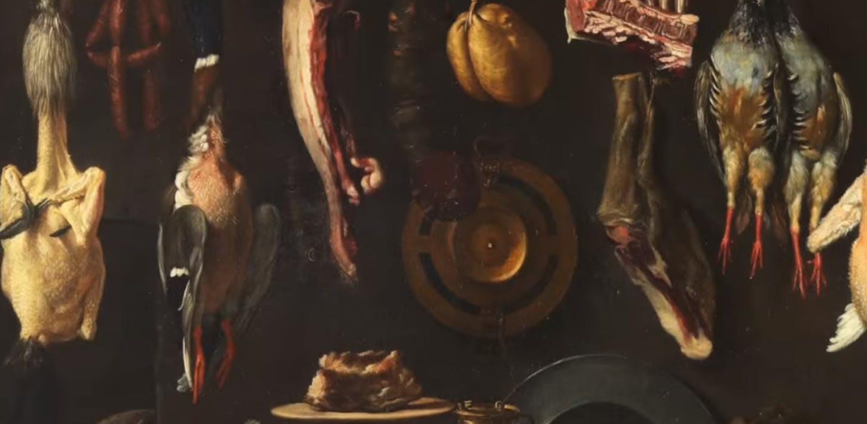 Un germano al cavolo nero dalla dispensa di Jacopo Chimenti detto l'Empoli