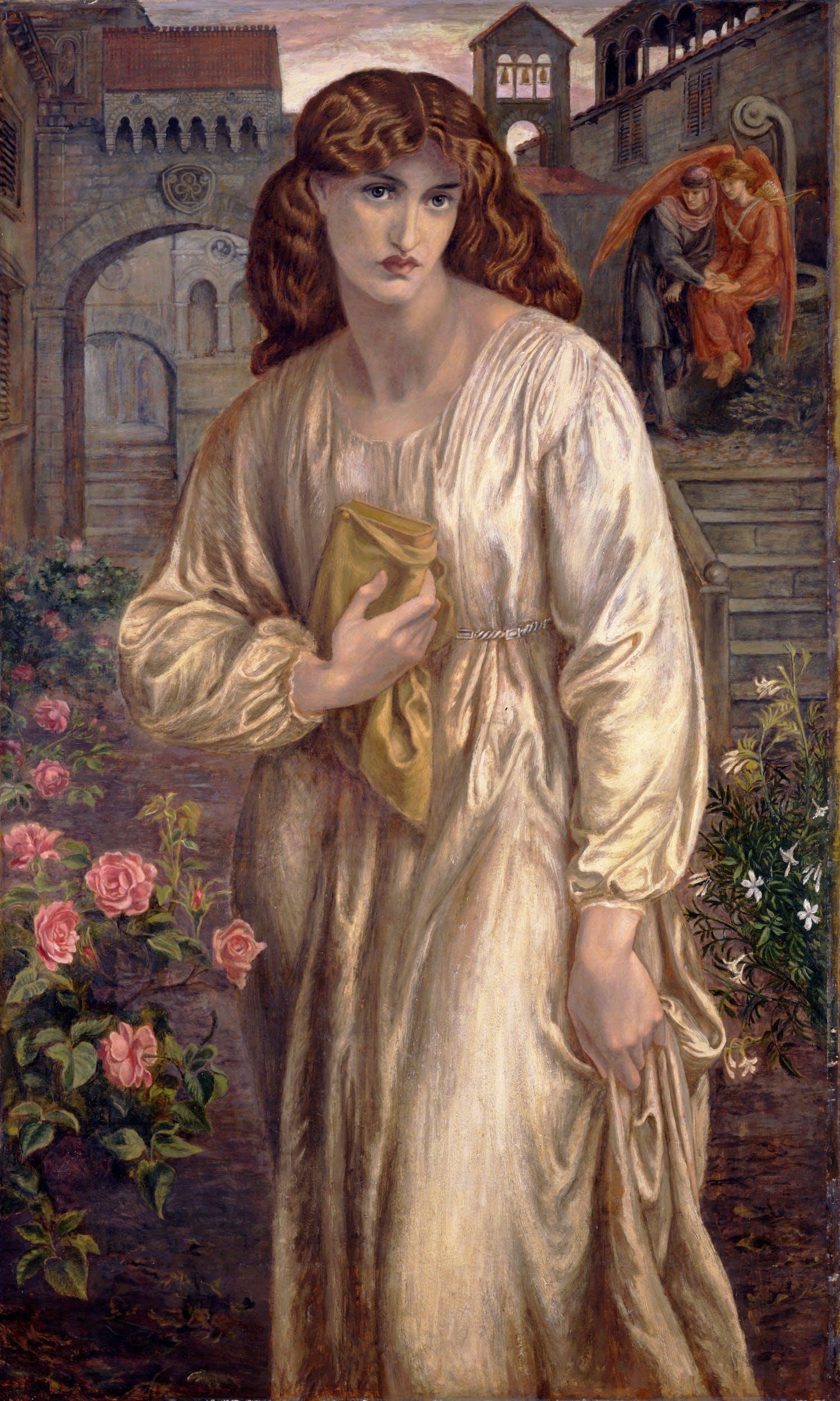 Dante Gabriel Rossetti (Londra, 1828 – Kent, 1882) Il saluto di Beatrice 1880-1882 olio su tela, 154,3 x 91,4 cm Toledo (Ohio), Museum of Art
