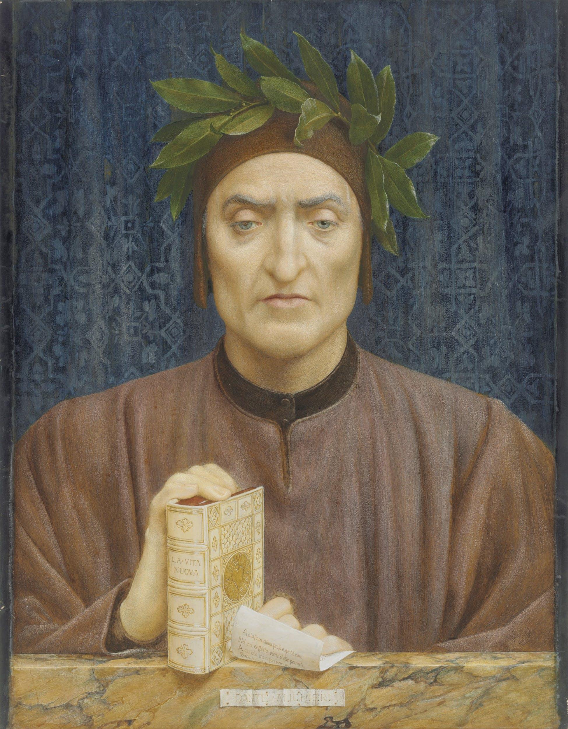Henry James Holiday (Londra, 1839 – 1927) Dante Alighieri 1875 circa matita, acquerello e gomma arabica su carta, 63,5 x 49,5 cm collezione privata c/o Christie's