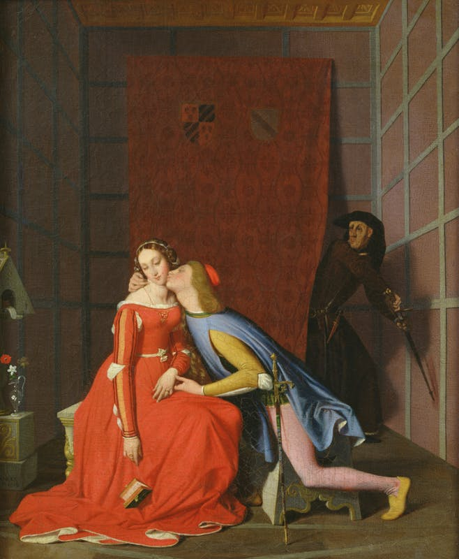 Jean-Auguste-Dominique Ingres (Montauban, 1780 – Paris, 1867) Paolo e Francesca sorpresi da Gianciotto 1819 olio su tela, 50,3 x 40,7 cm Angers, Musée des Beaux-Arts