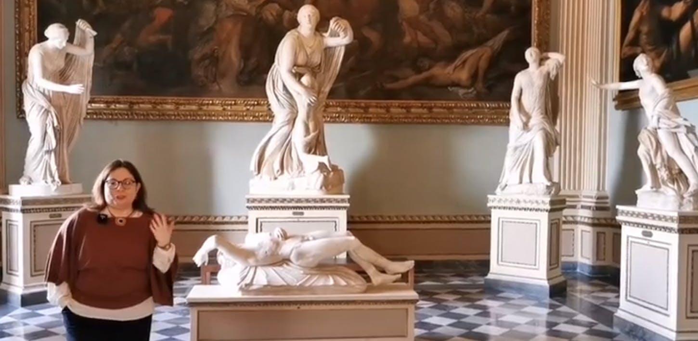 Le sculture della Sala della Niobe