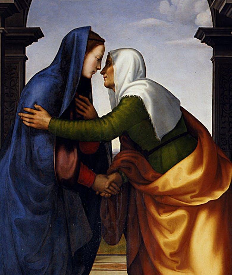 Visitazione (nella predella: Episodi dell'Infanzia di Cristo)