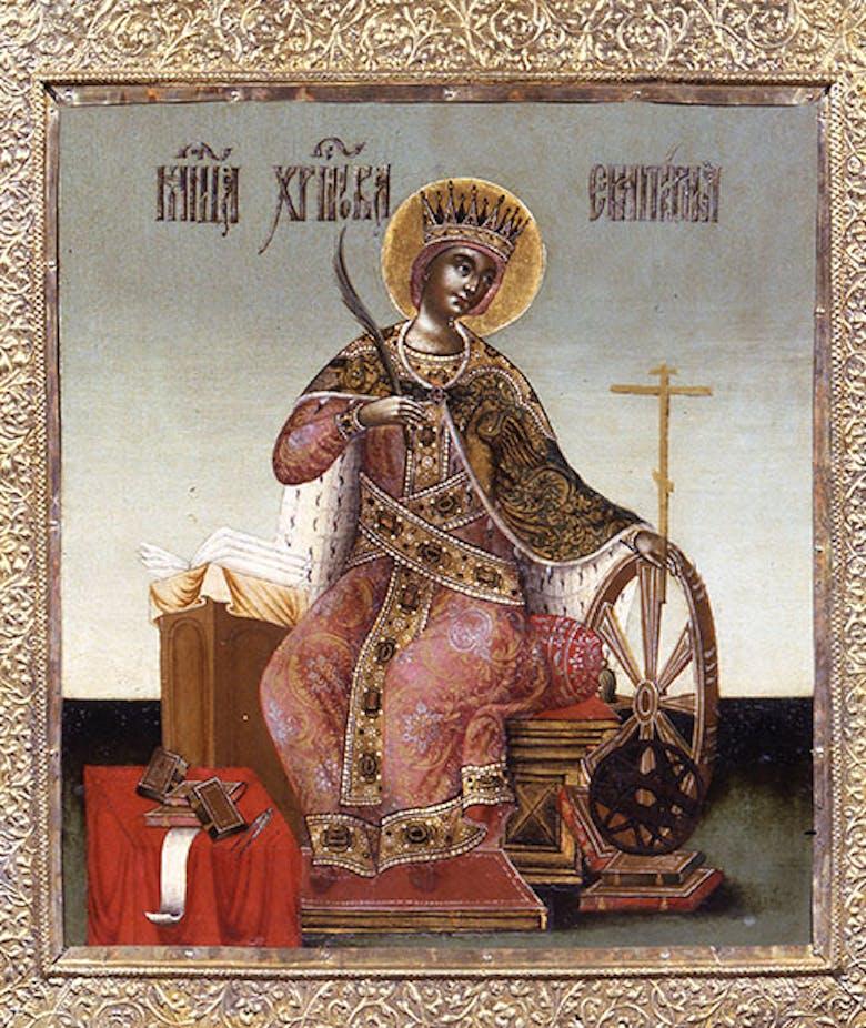 Icona Santa Caterina d'Alessandria martire