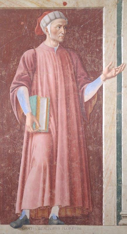 Andrea del Castagno, Ritratto di Dante (dopo il restauro)