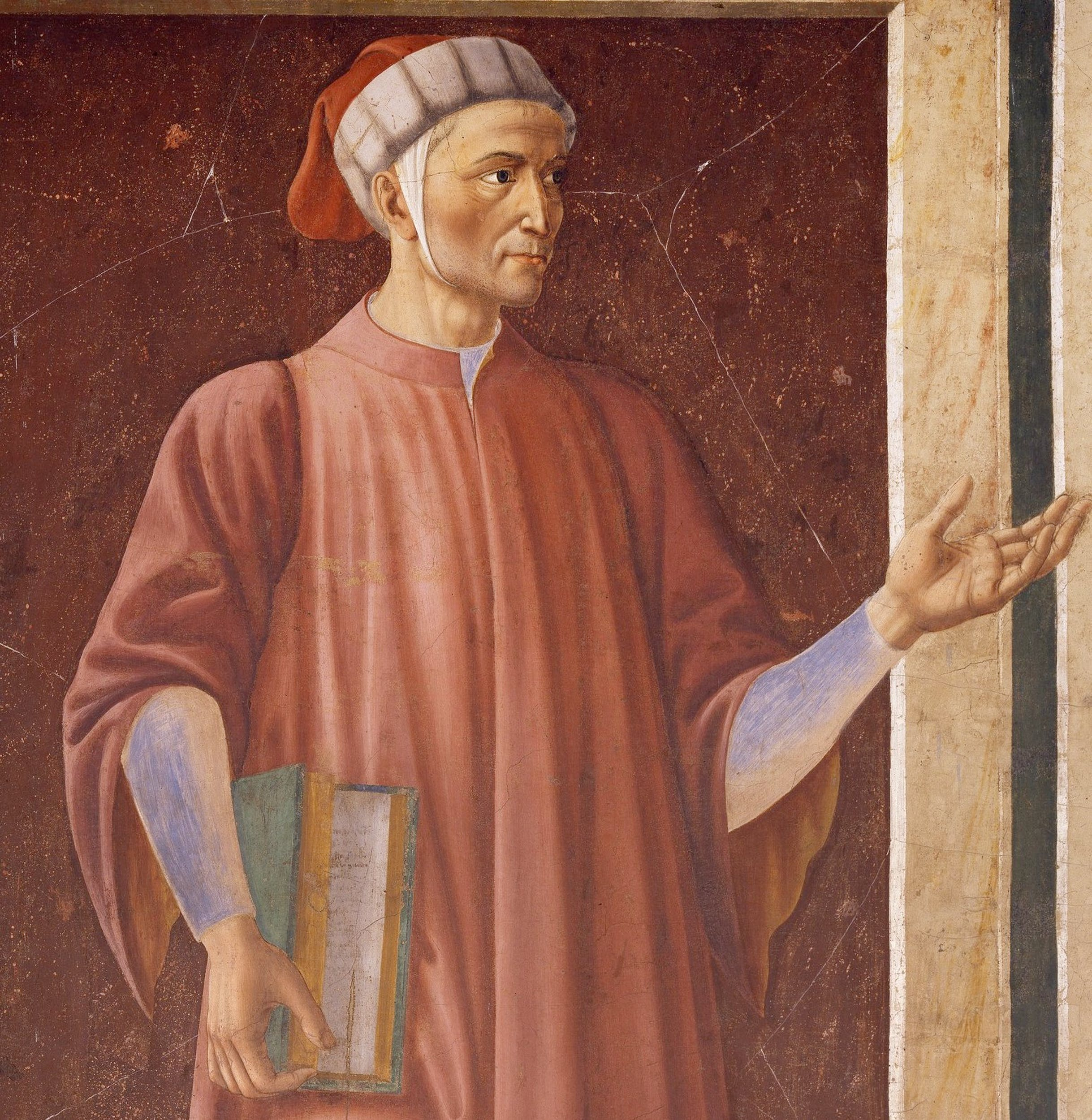 Andrea del Castagno, Ritratto di Dante (prima del restauro)