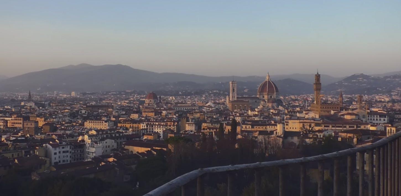 Il Paesaggio. Una terrazza su Firenze