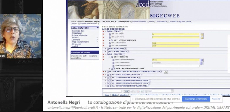 Antonella Negri - La catalogazione digitale dei beni culturali