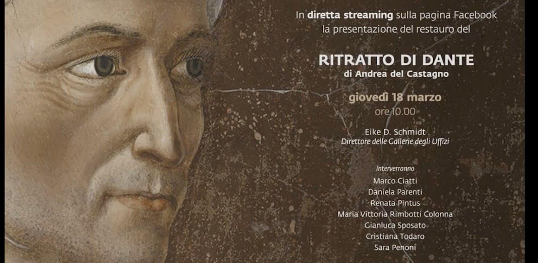 Il restauro del ritratto di Dante di Andrea del Castagno