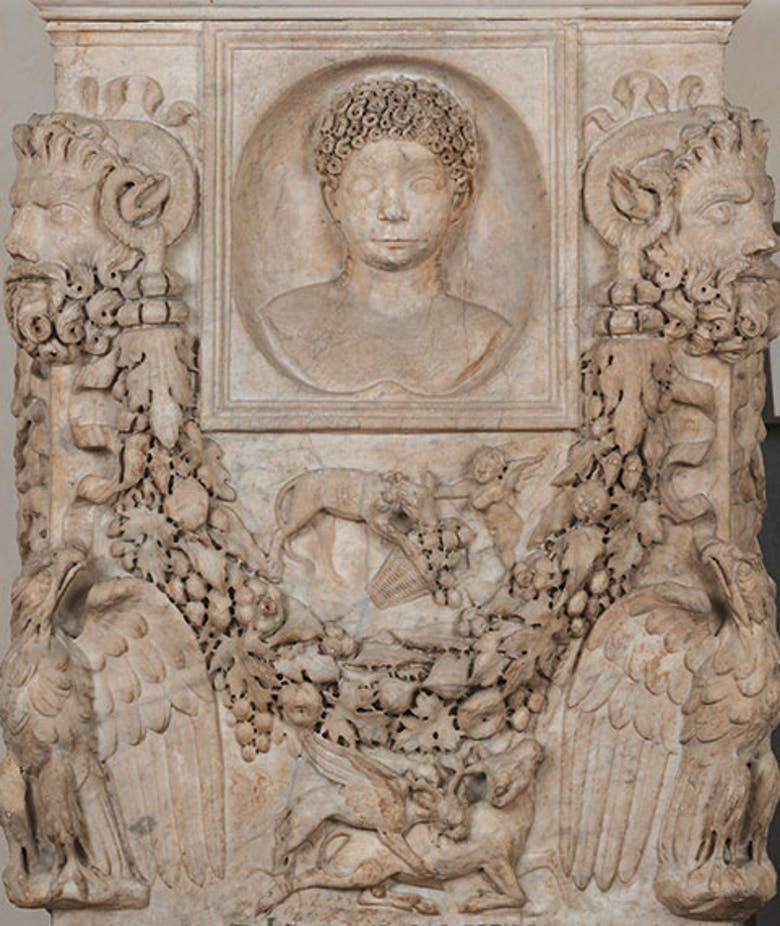 Altar in honor of Junia Procula. Front.