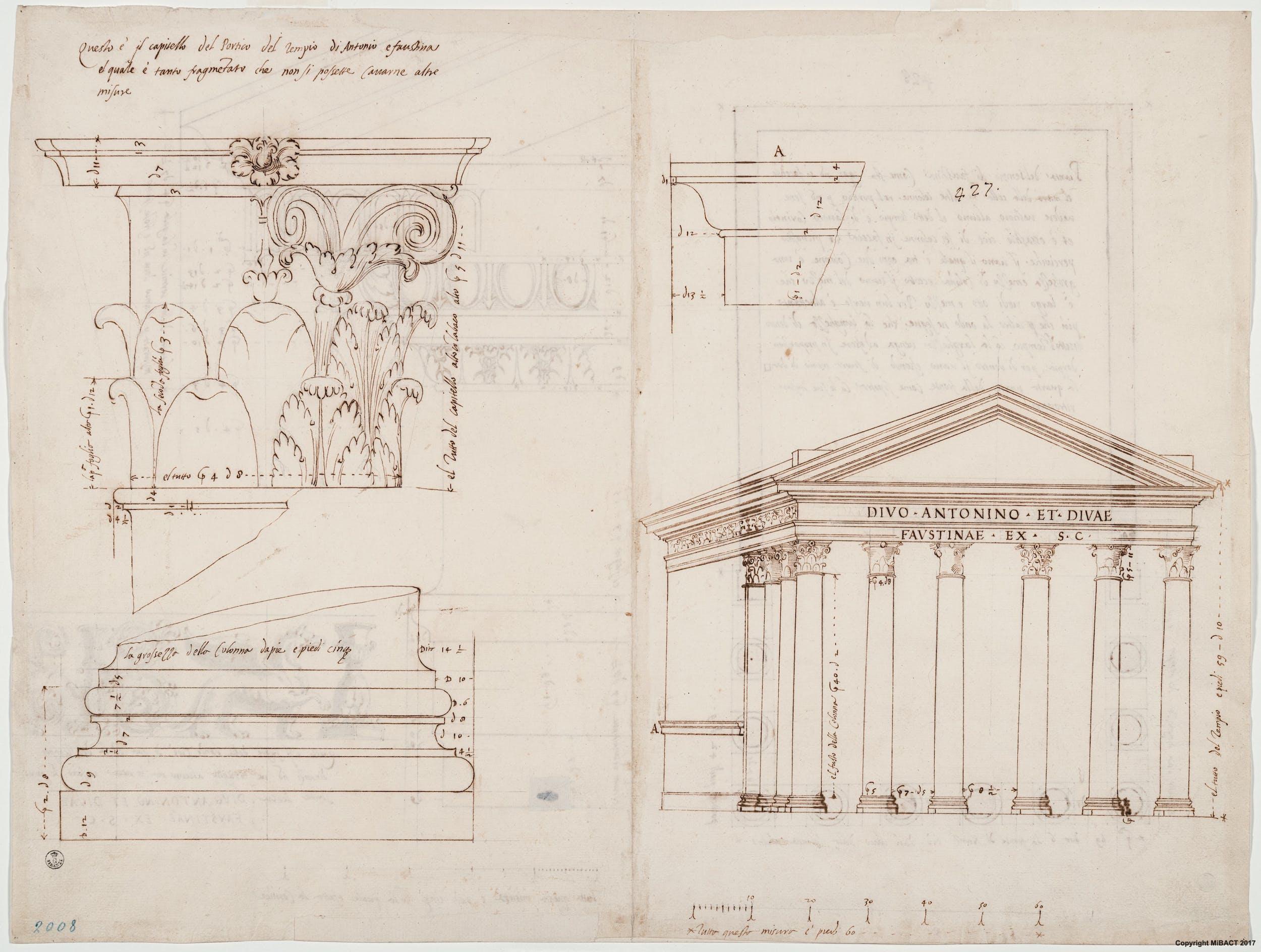 Tempio di Antonino e Faustina, verso